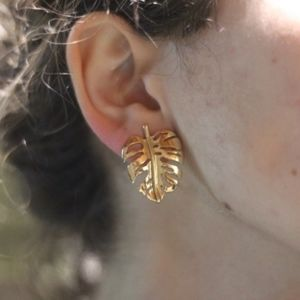 3/$23 Golden Leaf Earrings